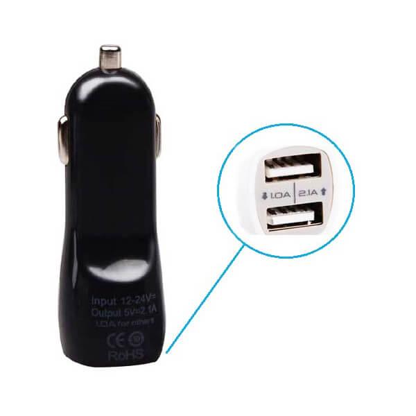 CL adapter pro elektronickou cigaretu - 2xUSB Black