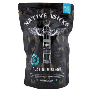 Native Wicks Platinum Blend, přírodní vata