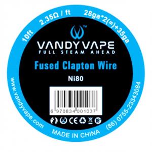 Vandy Vape Fused Clapton Ni80 odporový drát 28GAx2+35GA, 3m