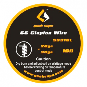 Geekvape SS316 Clapton odporový drát 26Ga+30Ga 3m
