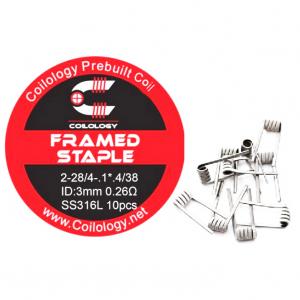 Coilology Framed Staple předmotané spirálky SS316 0,26ohm 10ks