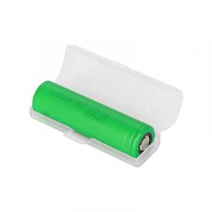 Plastové ochranné pouzdro pro baterie 18650, mléčné