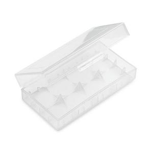 Plastové ochranné pouzdro pro baterie 2x18650, průhledné