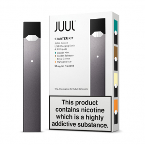 JUUL elektronická cigareta, startovací sada, šedá, 200mAh