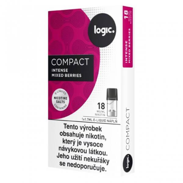 JTI Logic Compact náplně Intense Mixed Berries - lesní ovoce 18mg, 1,7ml