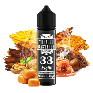 Příchuť No.33 Light Tobacco Flavormonks Tobacco Bastards - ořechy, tabák, pečený karamel (12ml)