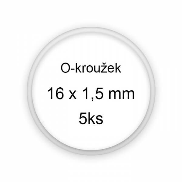 Sada těsnění, o-kroužky, 16x1,5mm 5ks