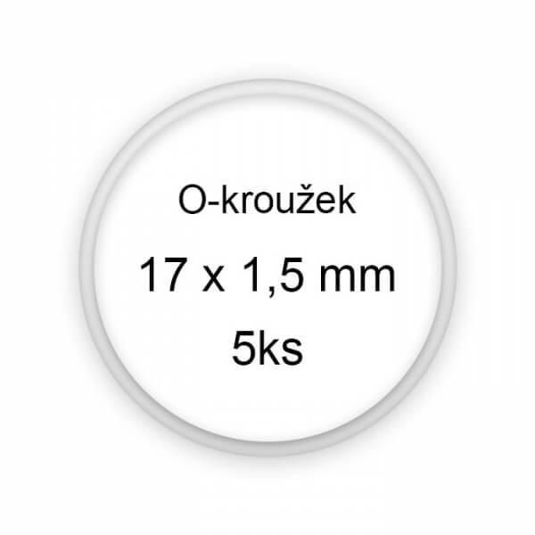Sada těsnění, o-kroužky, 17x1,5mm 5ks