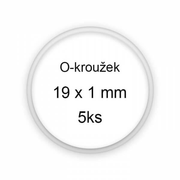 Sada těsnění, o-kroužky, 19x1mm 5ks