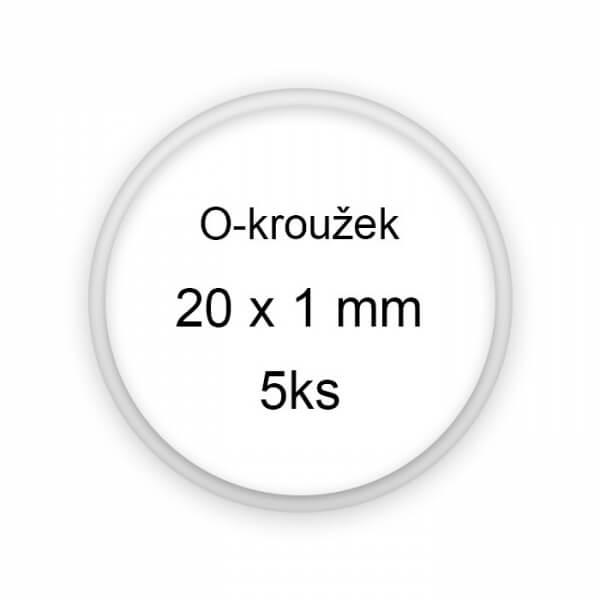 Sada těsnění, o-kroužky, 20x1mm 5ks