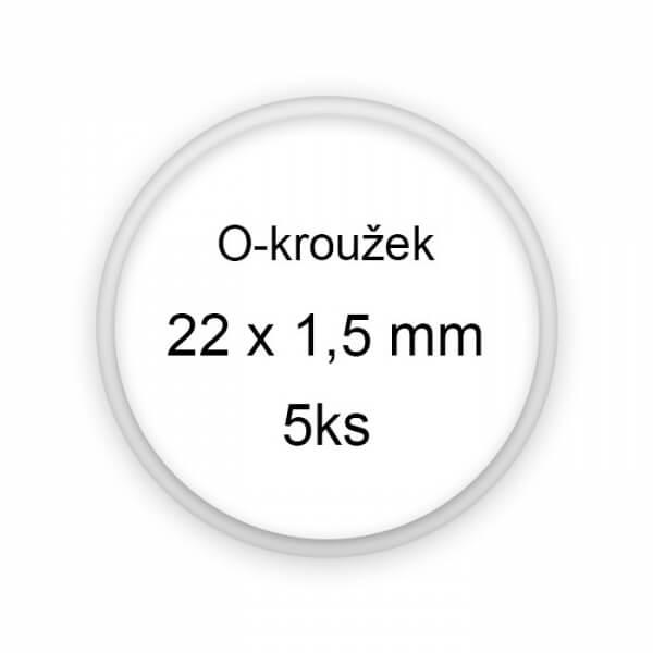 Sada těsnění, o-kroužky, 22x1,5mm 5ks