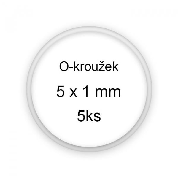 Sada těsnění, o-kroužky, 5x1mm 5ks