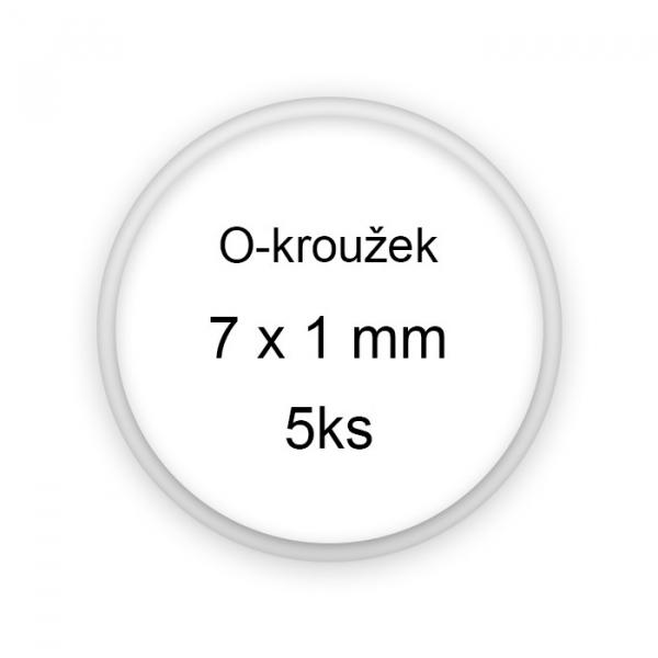 Sada těsnění, o-kroužky, 7x1mm 5ks