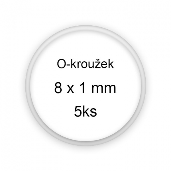 Sada těsnění, o-kroužky, 8x1mm 5ks