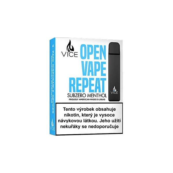 VICE Menthol jednorázová elektronická cigareta (Mentol) 3ks
