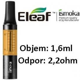 Mini BCC ismoka Clearomizer, 1.6ml, 2.2ohm, žlutá-černá