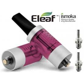 Mega BCC ismoka-Eleaf Clearomizer, SADA, 3.5ml, červená-stříbrná