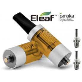 Mega BCC ismoka-Eleaf Clearomizer, SADA, 3.5ml, žlutá-stříbrná