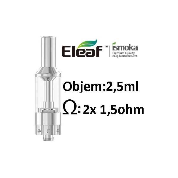 iSmoka-Eleaf GS AIR clearomizer 2,5ml Silver, stříbrná