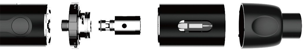 Elektronická cigareta Kangertech K-Pin, sestavení