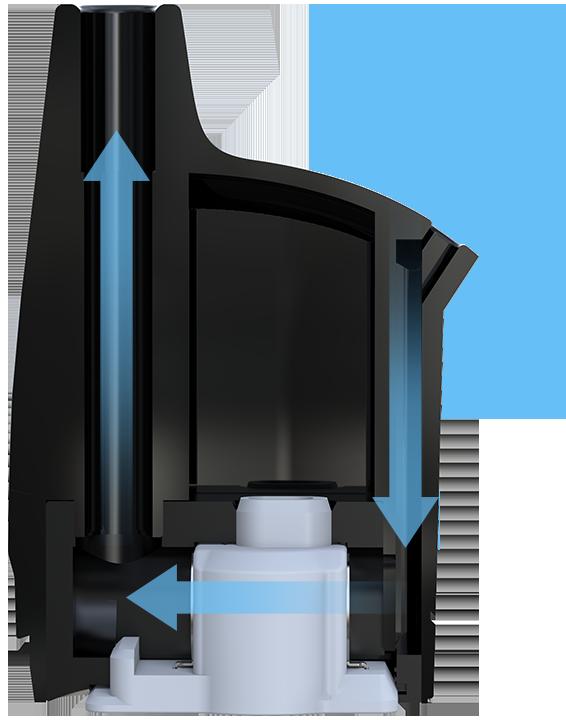 Přívod vzduchu a proudění vzduchu v cartridgi Joyetech Atopack Penguin SE
