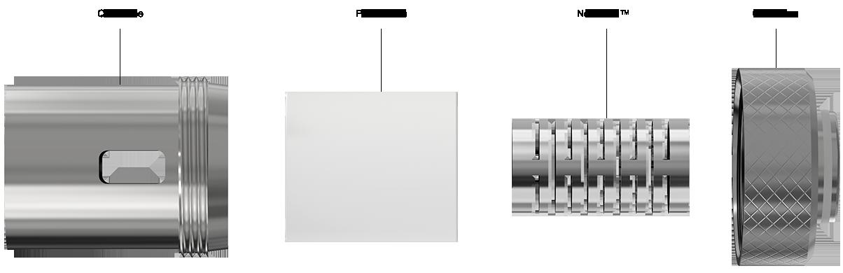 Joyetech QCS umožňuje snadnou výměnu vaty