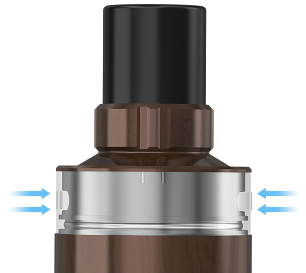 Regulace přívodu vzduchu clearomizeru Joyetech Elitar