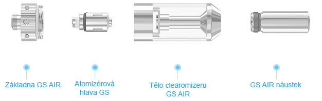 Rozložení clearomizeru iSmoka-Eleaf GS AIR