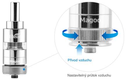clearomizér DIY iSmoka-Eleaf Magoo, clearomizér DIY iSmoka-Eleaf Magoo pro elektronicke cigarety a baterie 510
