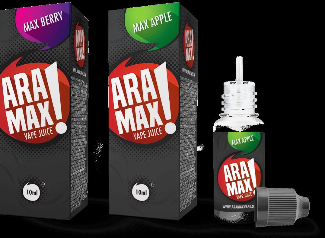 E-liquid Aramax, náplně do elektronických cigaret