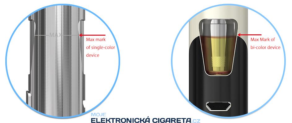 Plnění e-liquidem elektronické cigarety Joyetech eGo AIO