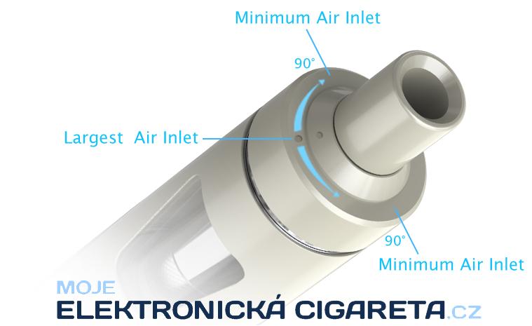 Regulace přívodu vzduchu elektronické cigarety Joyetech eGo AIO