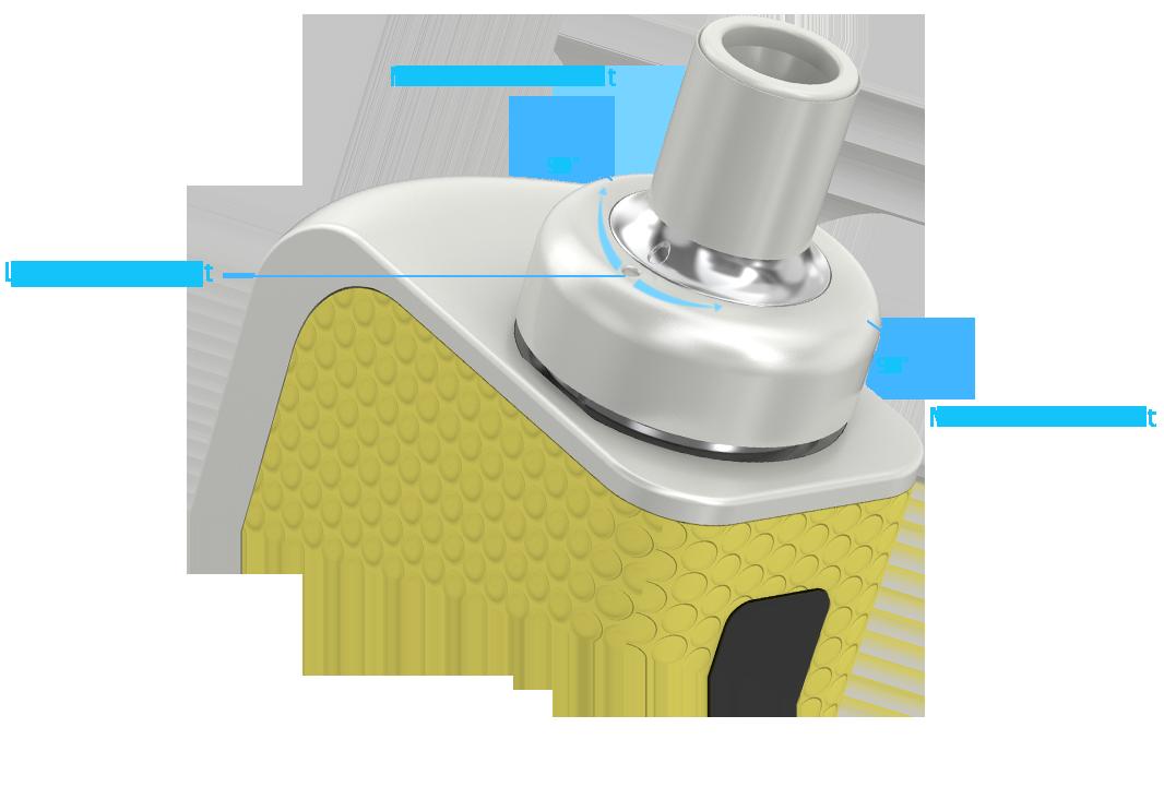 Regulace přívodu vzduchu elektronické cigarety Joyetech eGo AIO BOX