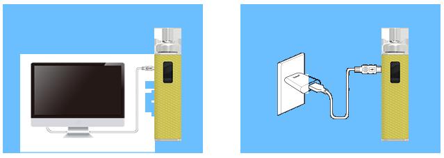Elektronická cigareta Joyetech eGo AIO BOX, nabíjení