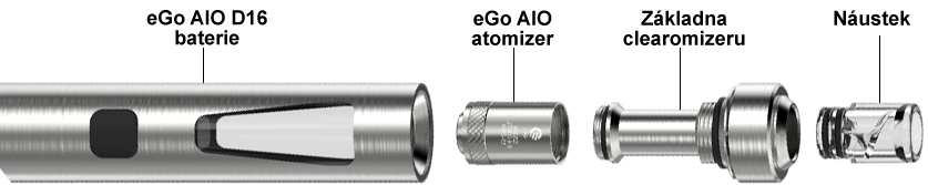 Sestavení elektronické cigarety Joyetech eGo AIO