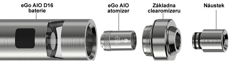 Sestavení elektronické cigarety Joyetech eGo AIO D22