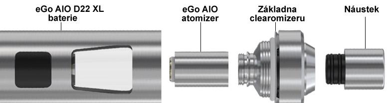 Sestavení elektronické cigarety Joyetech eGo AIO D22 XL