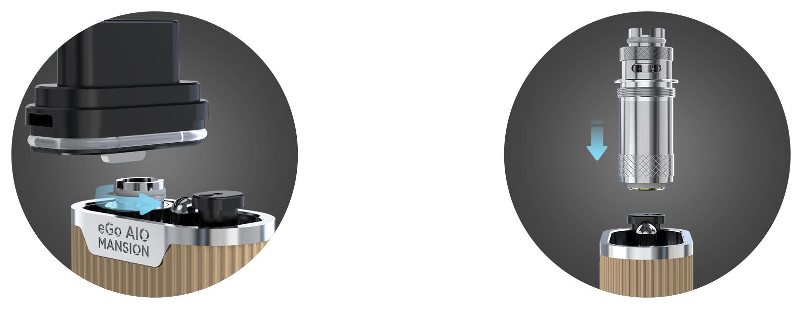 Žhavící hlava elektronické cigarety Joyetech eGo AIO Mansion