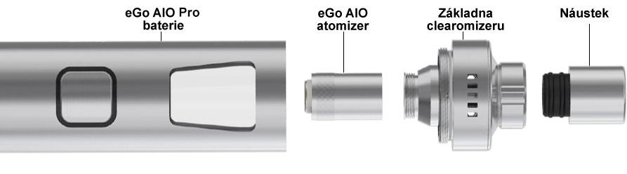Sestavení elektronické cigarety Joyetech eGo AIO Pro C