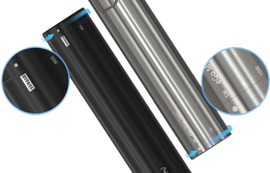 Režimy elektronické cigarety Joyetech eGo Mega Twist+
