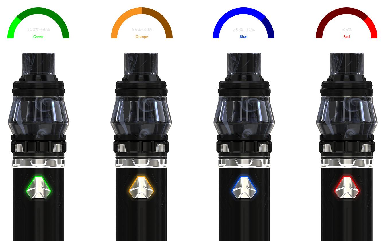 Indikátor stavu baterie u elektronická cigareta iSmoka-Eleaf iJust 21700