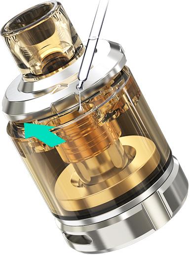Plnění Clearomizeru Wismec Sinuous V80