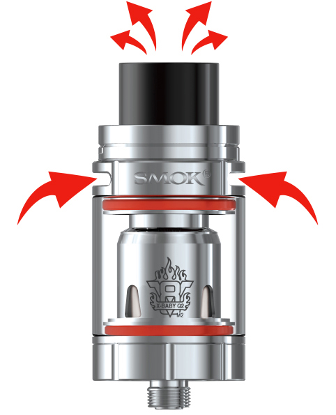Přívod vzduchu elektronická cigareta Smoktech Stick X8