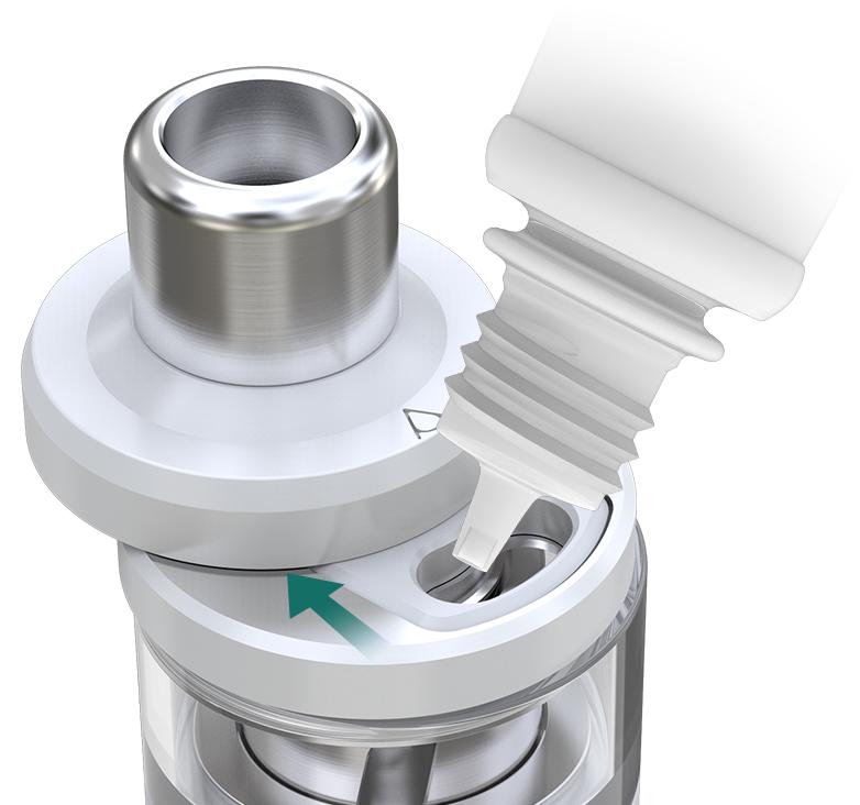 Regulace přívodu vzduchu a plnění clearomizeru iSmoka-Eleaf NexGen