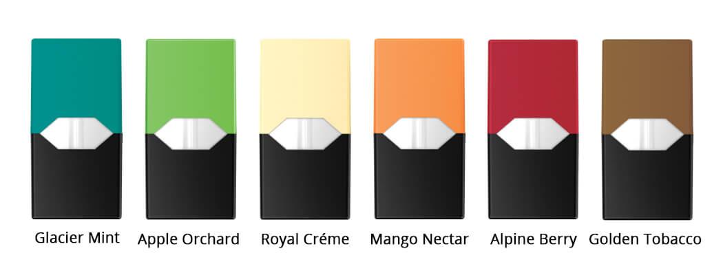 Příchutě -Juul - elektronická cigareta