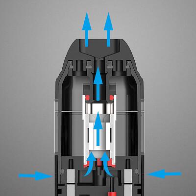 Přívod vzduchu - Uwell Caliburn - elektronická ciagreta