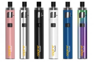 Nové barvy elektronické cigarety aSpire Pockex